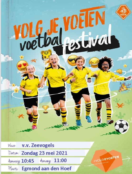KNVB Voetbalfestival op zondag 23 mei voor jeugdleden O7 t/m O13