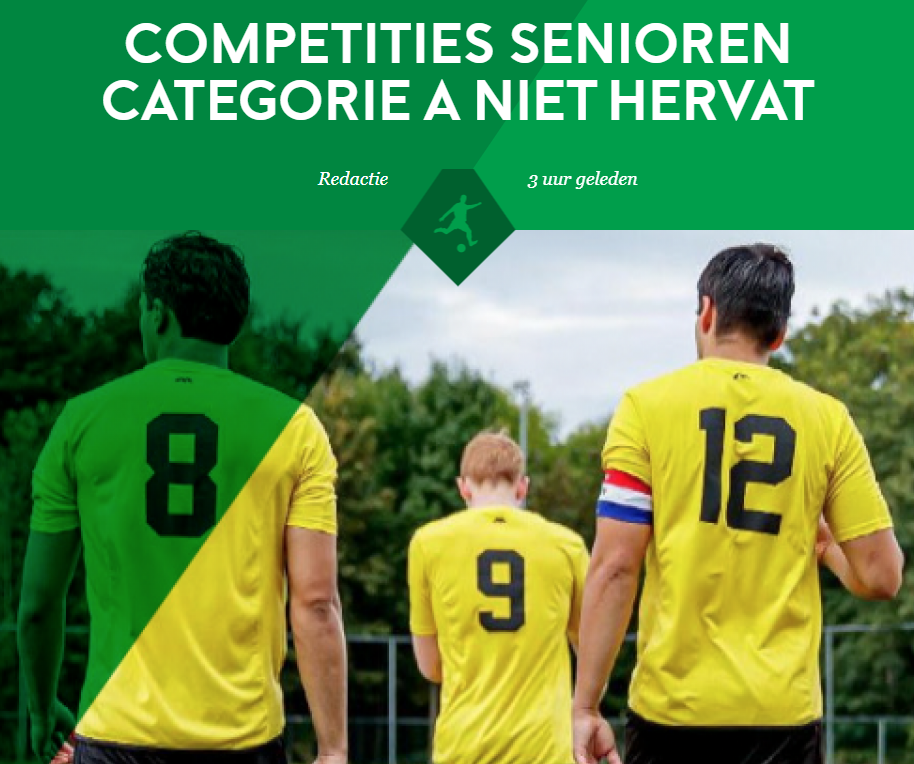 Competities senioren categorie A niet hervat