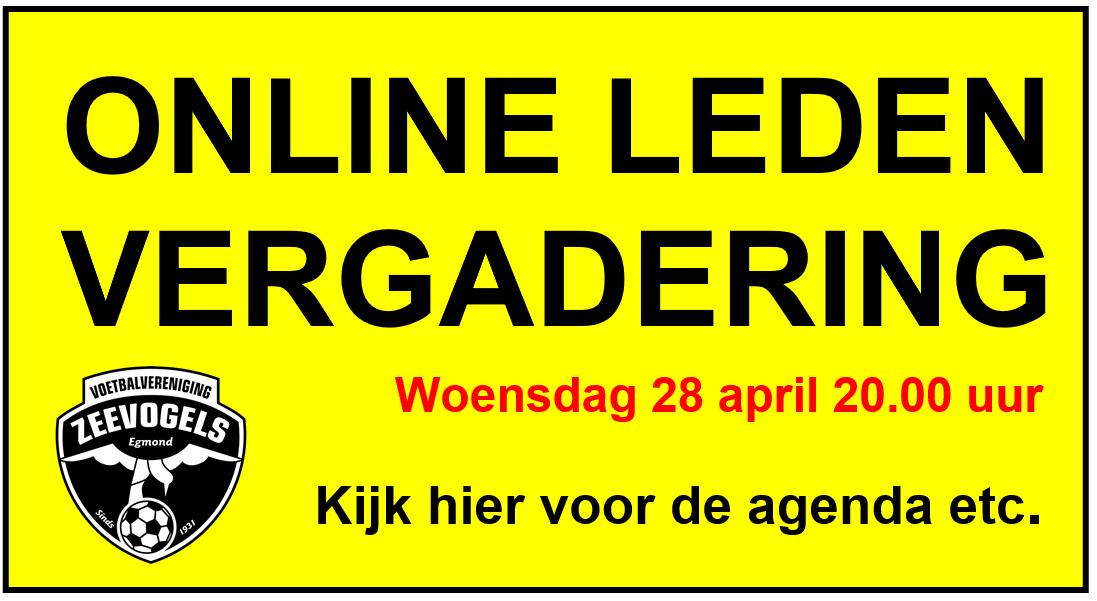 Online Algemene Leden Vergadering